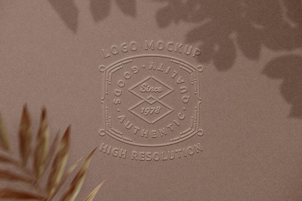 Free Embossed Logo Mockup PSD Template (1)