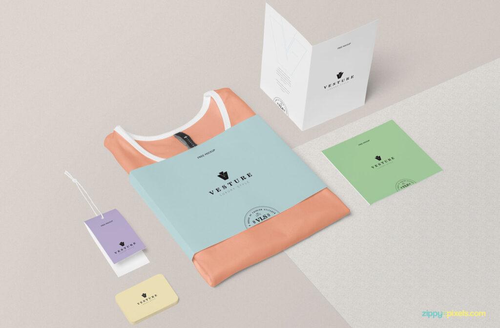 Free Fashion Branding Mockup Scene PSD Template (1)