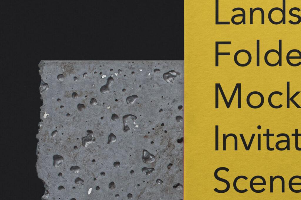 Free Folded Landscape Invitation Card Mockup PSD Template1 (1)