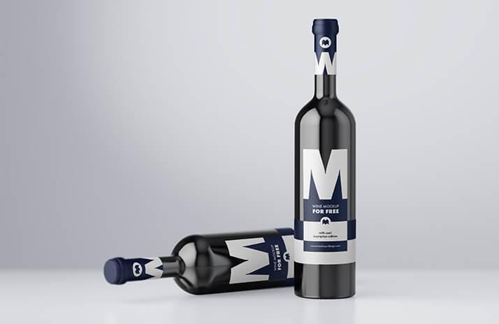 Free Fruity Wine Mockup PSD Template (1)