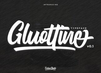 Free Gluottine Modern Calligraphy Font (1)
