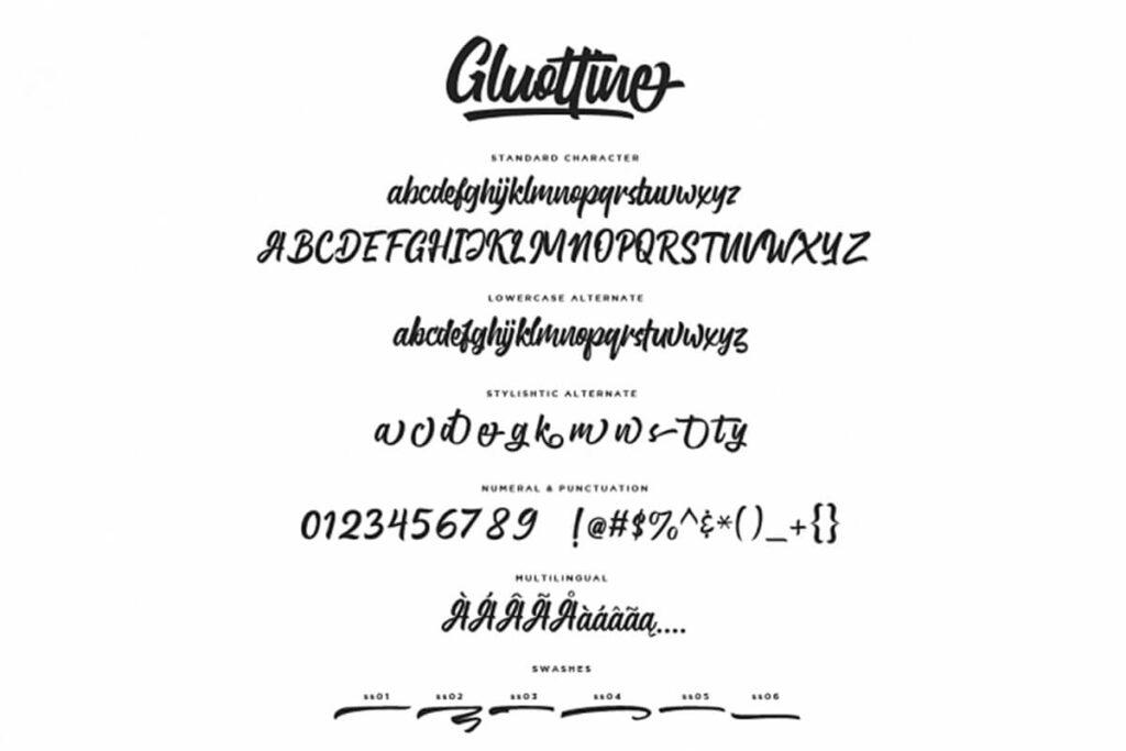 Free Gluottine Modern Calligraphy Font2 (1)