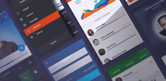 Free Handy Mobile UI Kit PSD Template (1)
