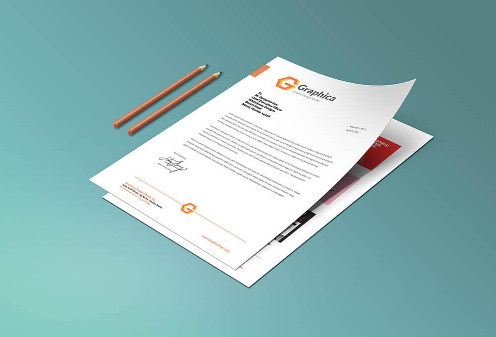 Free Letterhead And Paper Portfolio Mockup PSD Template (1)