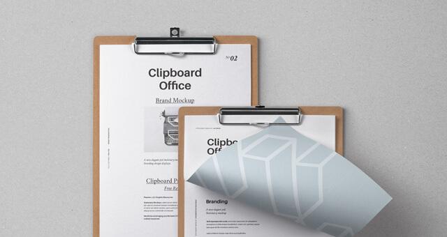 Free Modern Clipboard Stationery Mockup PSD Template (1)