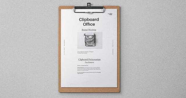 Free Modern Clipboard Stationery Mockup PSD Template1 (1)