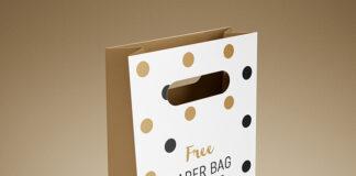 Free Modern Gift Bag Mockup PSD Template (1)