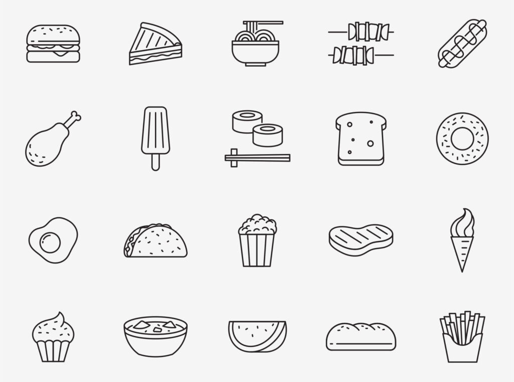 Free Mouth Watering Food Vector Icons (1)