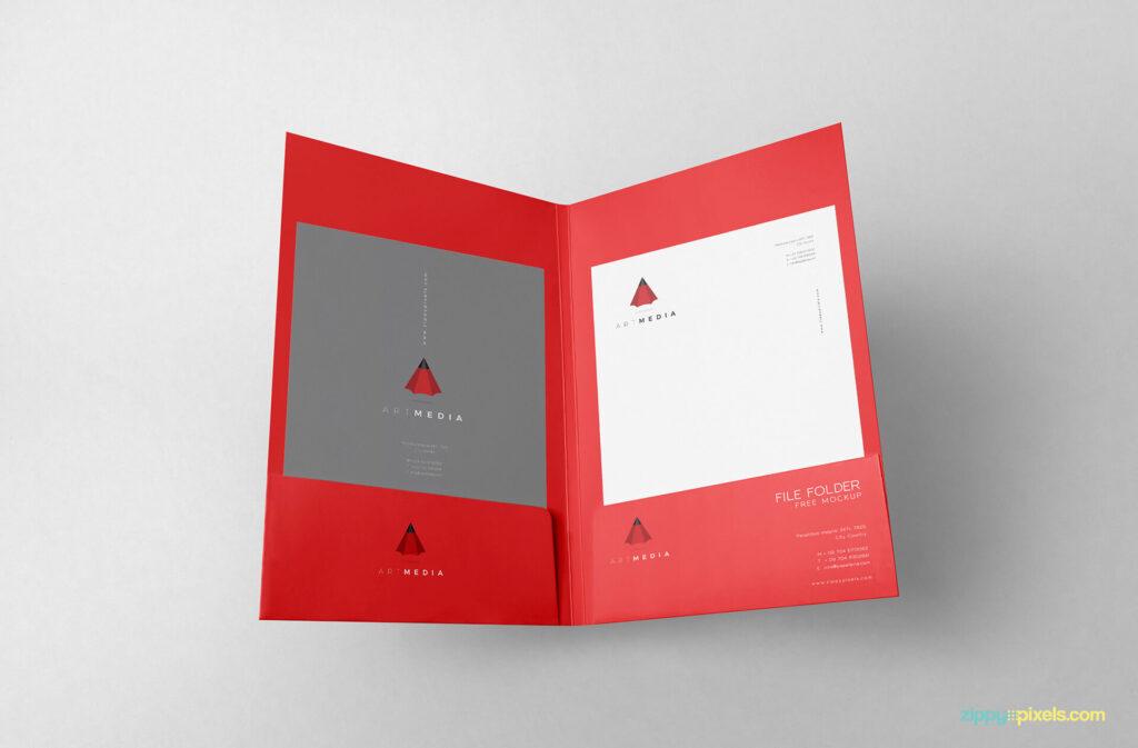 Free Outstanding 2 Folder Mockups PSD Template (1)