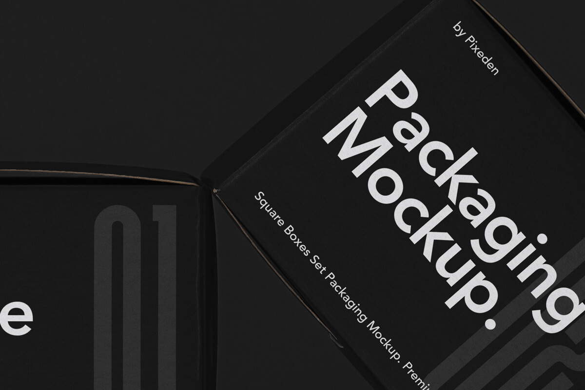 Free Packaging Square Boxes Mockup Set PSD1 (1)