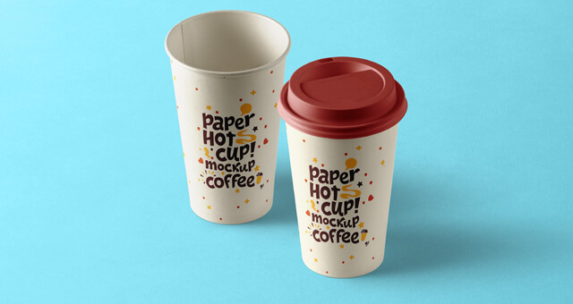 Free Perspective Paper Hot Cup Mockup PSD Template (1)
