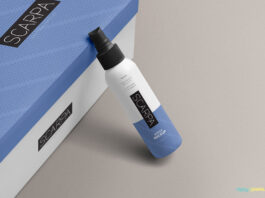 Free Plastic Spray Bottle Mockup PSD Template (1)