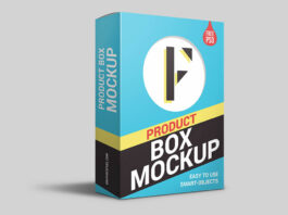 Free Product Packaging Box Mockup PSD Template (1)