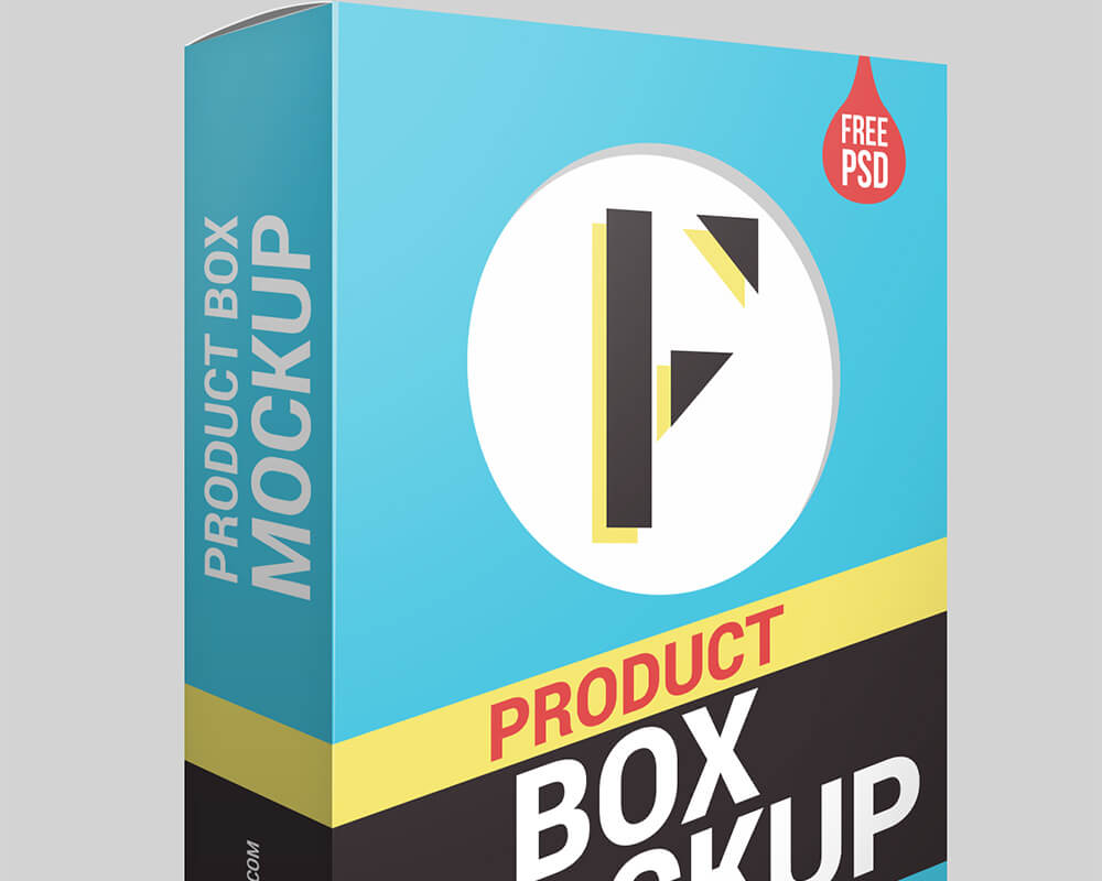 Free Product Packaging Box Mockup PSD Template1 (1)