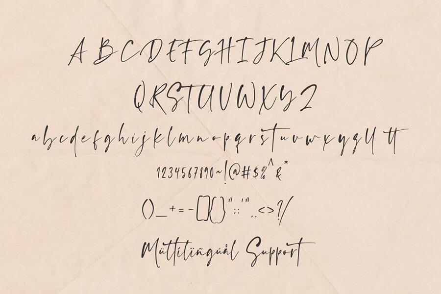 Free Ragland Handwritten Font1 (1)