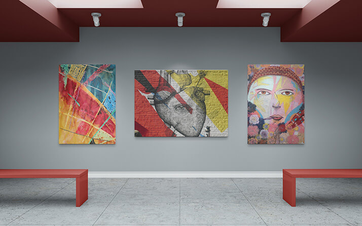 Free Realistic Art Gallery Mockup PSD Template1 (1)