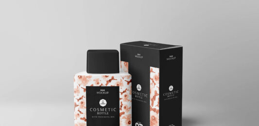 Free Realistic Cosmetic Bottle Mockup PSD Template (1)