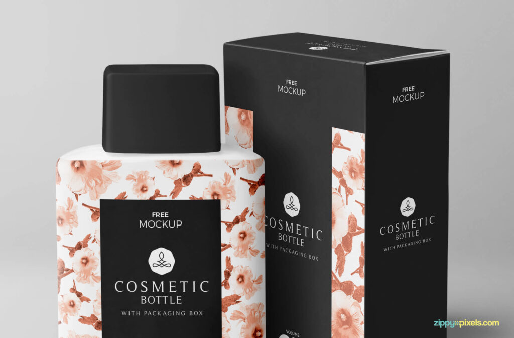 Free Realistic Cosmetic Bottle Mockup PSD Template3 (1)