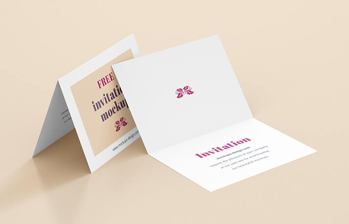 Free Realistic Invitation Mockup PSD Template (1)