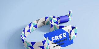 Free Realistic RFID Wristband Mockup PSD Template (1)