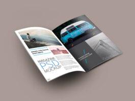 Free Resultative Open Magazine Mockup PSD Template (1)