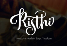 Free Risthi Script Font Demo Typeface (1)