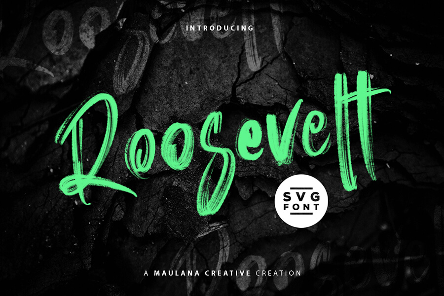 Free Roosevelt Brush Font Demo (1)