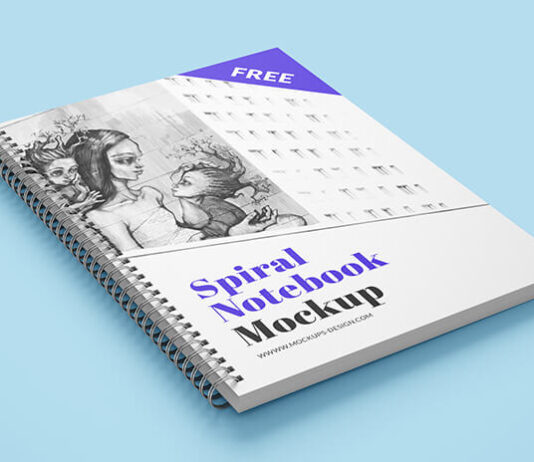 Free Spiral Notebook Mockup PSD Template (1)