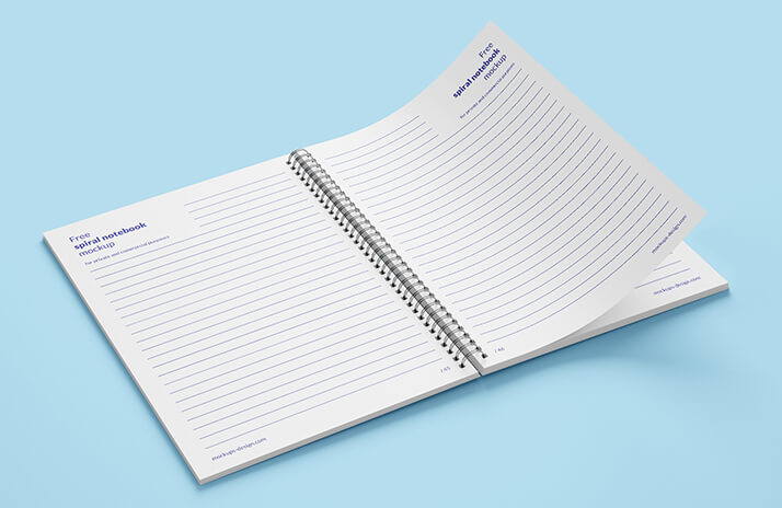 Free Spiral Notebook Mockup PSD Template2 (1)
