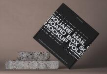 Free Square Mail Cardboard Box Mockup PSD Template (1)