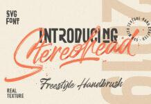 Free Stereohead Brush Lettering Font (1)