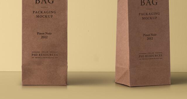 Free Wine Cardboard Bag Mockup PSD Template1 (1)