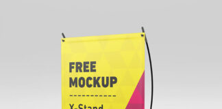 Free X-Stand Banners Mockup PSD Template (1)