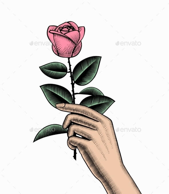 Hand with a Rose (1)