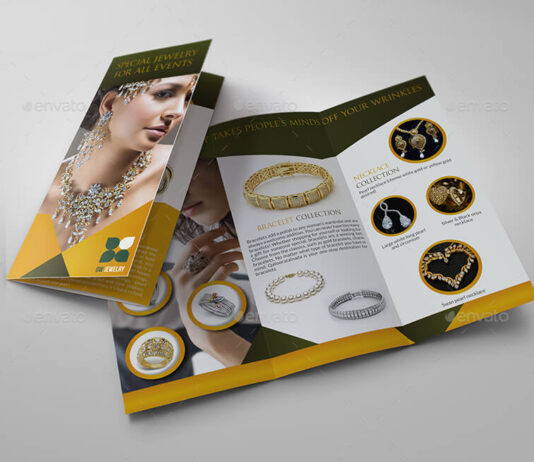 Jewelry and Accessories Tri Fold Catalog Brochure (1)