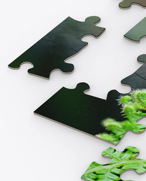 Jigsaw Puzzle Mockup - Half Side View (1)