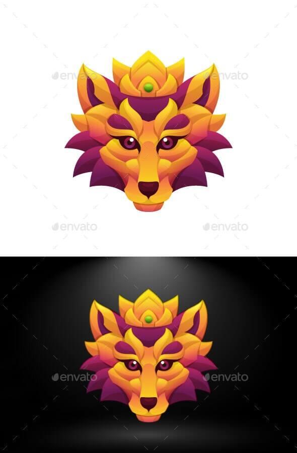 King Lion Colorful Vector Illustration (1)