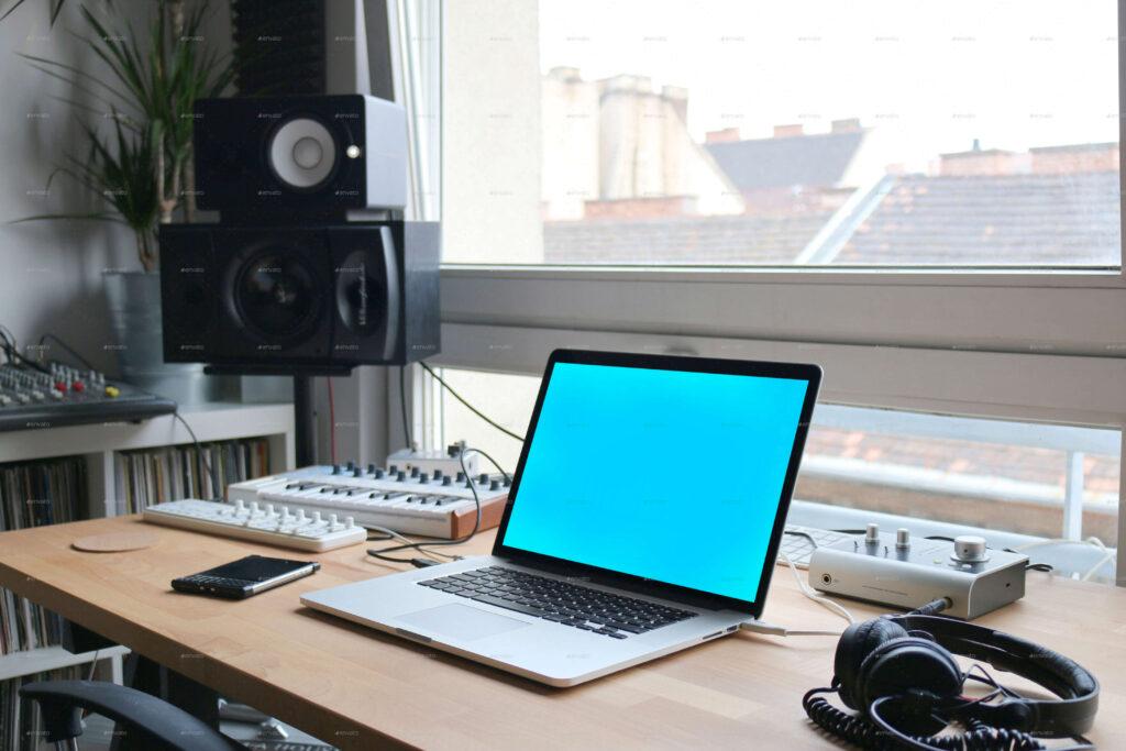 Laptop Display Mock-Up Workspace Edition (1)