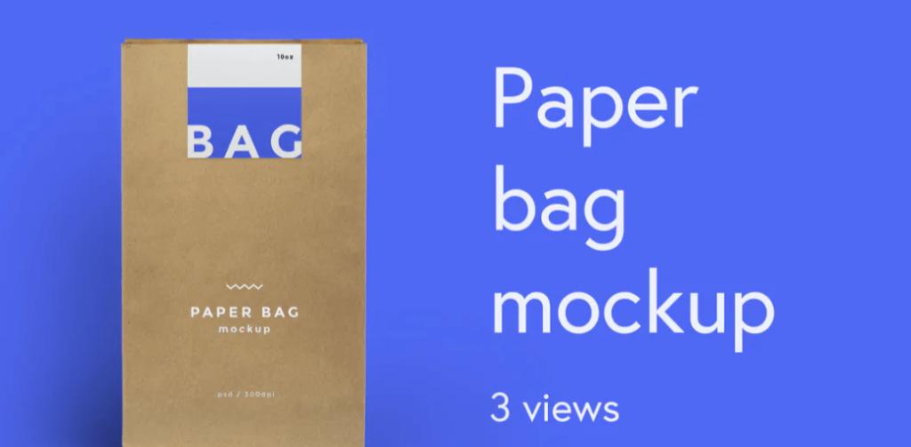 Lunch BAG - paper bag mockup