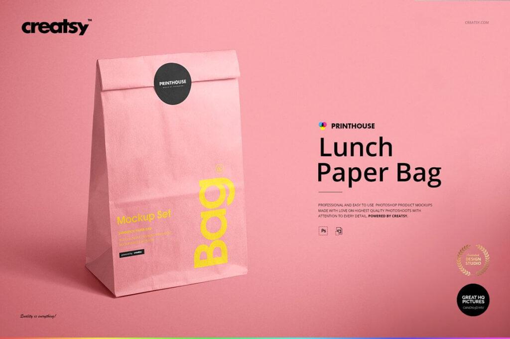Lunch Bag Mockup Set (1)