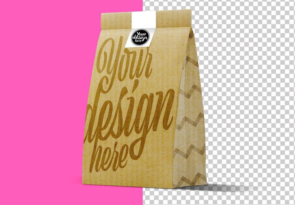 Lunch Kraft Paper Bag Mockup1 (1)