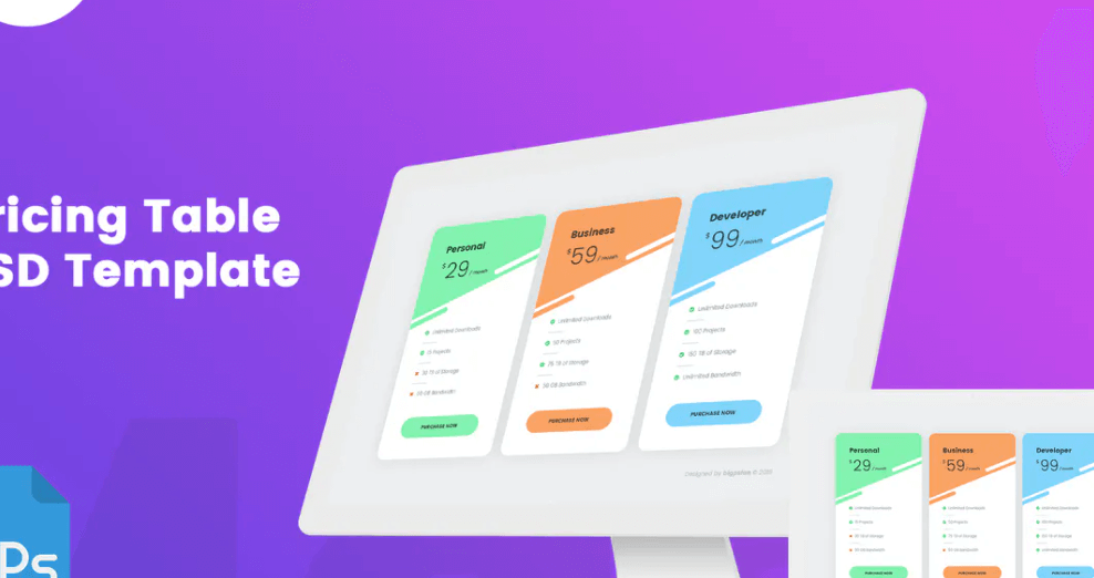 MA - Pricing Table 001