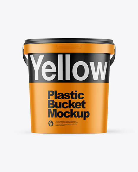 Matte Plastic Bucket Mockup (1)