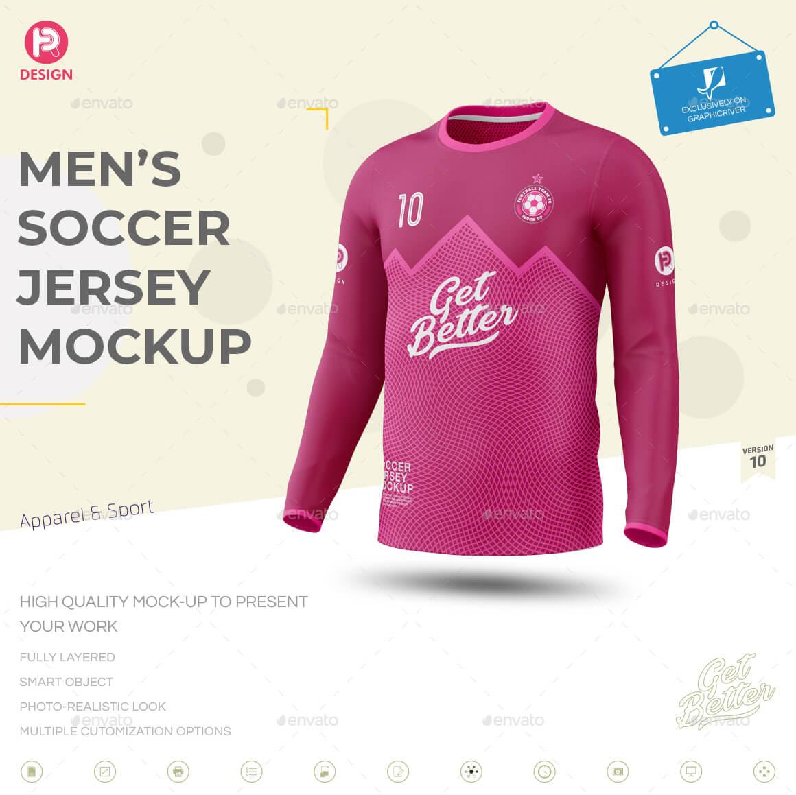 Men's Soccer Jersey Mockup V10 (1)