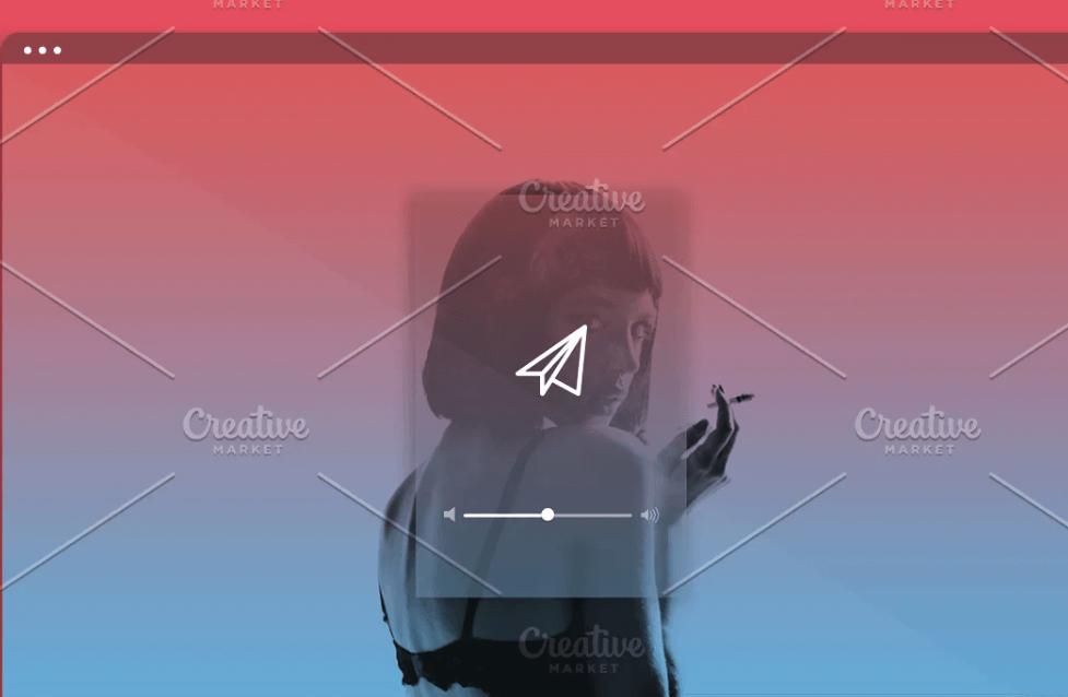 Minimal Web Browser Mockup