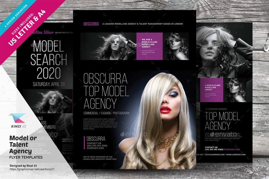 Model or Talent Agency Flyers (1)