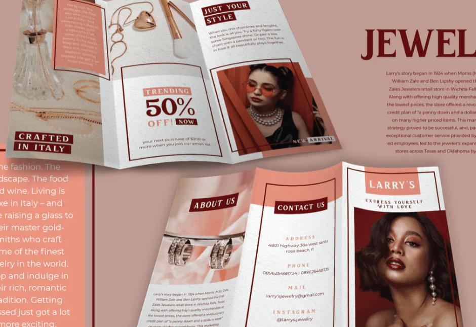 Modern Geometry Jewelry - Brochure