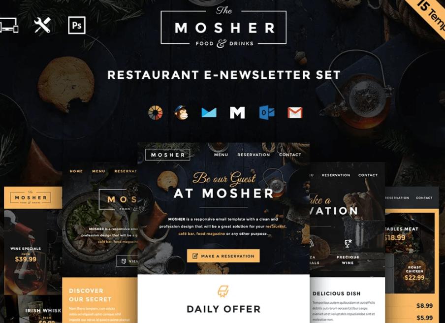Mosher - Restaurant Email Set