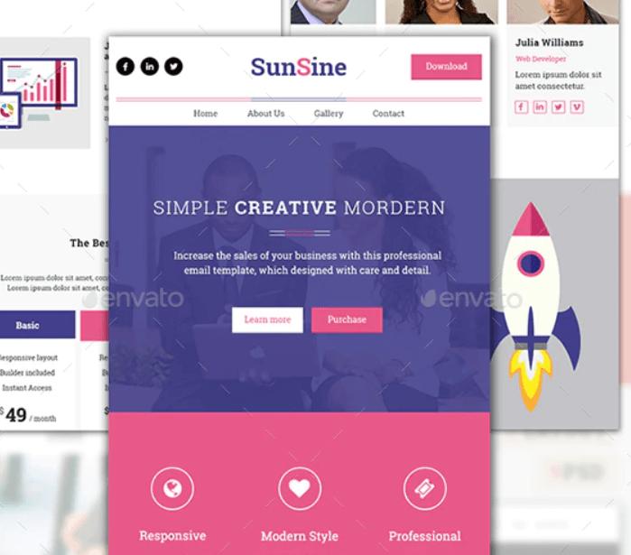 Multipurpose SunShine Email Template