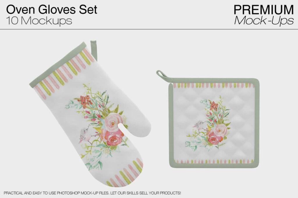 Oven mitt and Potholder (1)